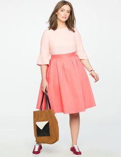 Pleated Midi Skirt w
