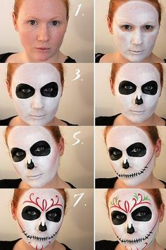 10 Spooky Makeup Looks for the Halloween Fanatic Fete Halloween, Scary Halloween Costumes, Halloween Looks, Halloween Crafts, Amazing Halloween Makeup, Halloween Face Makeup, Halloween Eyes, Day Of Dead Makeup, Candy Skull Makeup