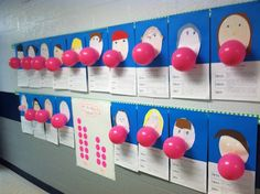 How to Blow a Bubble...  First, students chewed a piece of gum.  Then they wrote a paragraph about how to blow a bubble using transition words  such as first, next, and last. Finally, they created a picture of themselves and attached a balloon to their picture so it looks like they are blowing a bubble!!