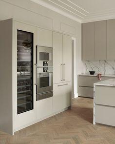 Modern Kitchen Design, Interior Design Kitchen, Bathroom Interior, Emma's Kitchen, Home Decor Kitchen, Fancy Kitchens, Home Kitchens, Mirror Decor Living Room, Scandinavian Kitchen