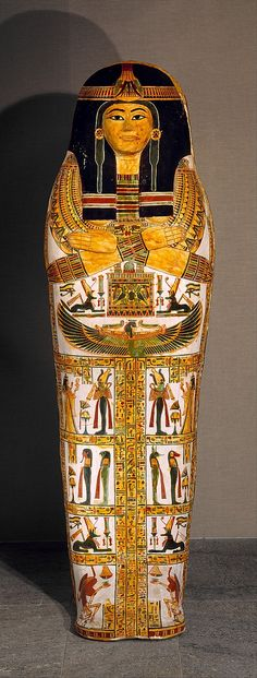 Outer coffin of Henettawy (F), Egypt, late 21st dynasty, ca.1,000–945 BC. Wood, gesso, paint, and varnish