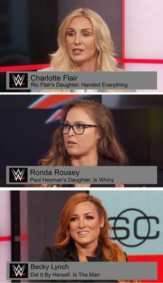 W Charlotte Flair Ric Flair's Daughter. Handed Everything W Ronda Rousey Paul Heyman's Daughter. Is Whiny W Becky Lynch Did It By Herself. Is The Man - iFunny :) Wrestling Quotes, Wrestling Divas, Women's Wrestling, Wwe Girl Wrestlers, Charlotte Flair Wwe, Becky Wwe, Paul Heyman, Wwe Seth Rollins, Wwe Funny