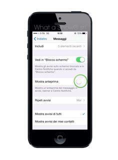 What a Show s.r.l. Togliere l'anteprima dalla notifica dei messaggi su iPhone, in alcuni casi è una gran salvata!  Impostazioni> Centro Notifiche> Messaggi> Disabilita Mostra Anteprima  #iPhoneTips