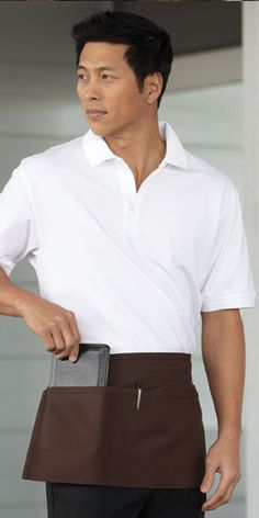 Waist Apron with 2 Section Pockets
