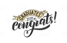 Graduates class of 2020 vector concept as. Congratulations Banner, Congratulations Graduate, Graduation Clip Art, Class Of 2020, Free Vector Art, Textbook, Printable Alphabet, Concept, Templates