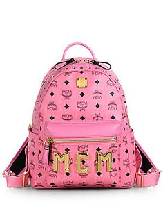 MCM Small Logo-Print Backpack Life goal is to buy a MCM bag