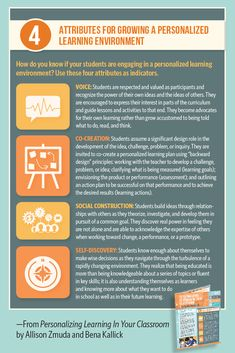 In this useful guide, authors Allison Zmuda and Bena Kallick explain the four attributes of personalized learning, provide tips to build student readiness in the classroom, and describe the seven elements of progressively student-driven learning. Education Today, Learning Environments, Did You Know, Infographics, Authors, Homeschooling, Encouragement, Classroom, Advice
