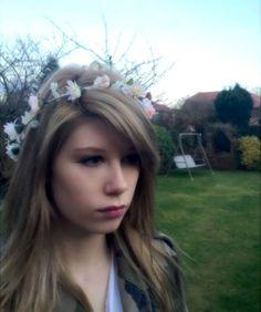 Blush flower girl halo hair wreath floral crown pink wedding bridal
