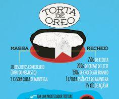 RECEITA-ILUSTRADA 136: Torta de Oreo - Mixidão