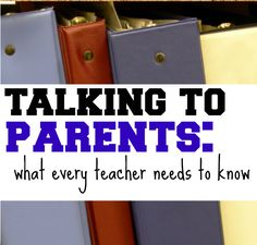 Talking to Parents: What Every Teacher Needs to Know Connect effectively with parents this year. via Scholastic