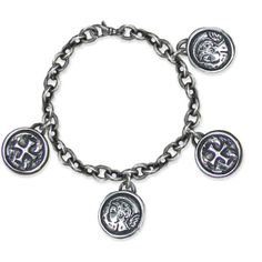 Multiple Framed Protection Charm Bracelet
