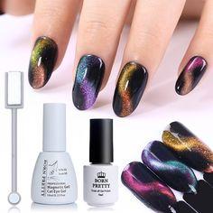 BORN PRETTY 3D Chameleon Cat Eye Magnetic Gel Soak Off UV Gel Varnish Polish Magnet Board Nail Art Color for Nails  Price: 2.93 USD