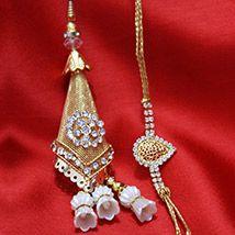 Golden Bhaiya-Bhabhi Rakhi