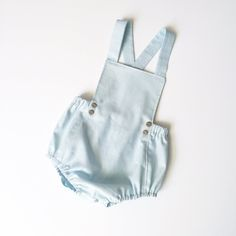 Joy Marie Clothing | Basic romper in pale blue