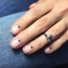 Modern Minimalistic Lines To Highlight Nail Form #nudenails #linednails #stripednails ★ French nails design ideas and tips for natural or acrylic, short or long nails with glitter or otheraccessories. ★ See more: http://glaminati.com/french-nails-design-ideas/ #frenchnails #frenchmanicure #frenchmani #frenchnailsdesign #glaminati #lifestyle