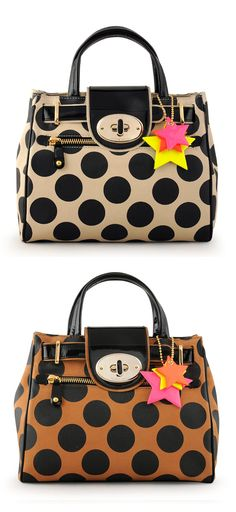 Sienna Collection SS 2013 Carteras Jackie Smith, Leather Bag Design, Pocket Books, Louis Vuitton Speedy Bag, Passion For Fashion, Polka Dots, Girly, Baggage Claim, Handbags