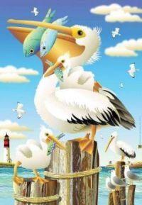 Pelican Lunch Pelican Art, Mailbox Covers, Paradise Garden, Yard Flags, Les Cascades, Garden Decor Items, Beach Artwork, Flag Decor, House Flags