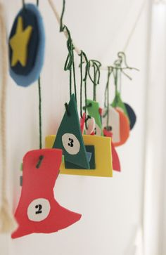 Advent calendar on EVA foam - mama recicla