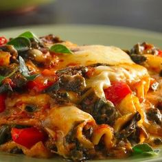 Slow Cooker Red Pepper Lasagne
