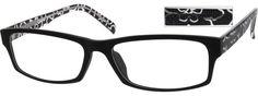 Black full rim acetate/plastic rectangle eyeglass frames model #299421 #ZenniFashionChallenge