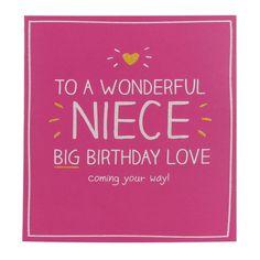 Happy Jackson Wonderful Niece Birthday Card | Temptation Gifts