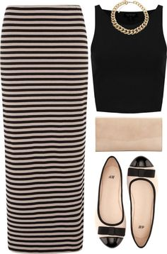 thepolyvorecollection:  don´t fade away by rosiee22 featuring a stripe skirt