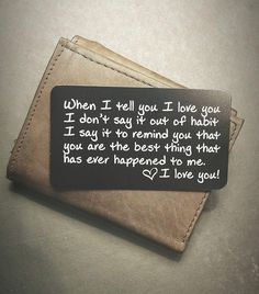 Wallet Inserts - Perfect Anniversary Gifts for Men; Surprise Him with t Engraved Wallet Inserts - Perfect Anniversary Gifts for Men; Surprise Him with t.Engraved Wallet Inserts - Perfect Anniversary Gifts for Men; Surprise Him with t. Quotes Valentines Day, Valentines Diy, Valentine Day Gifts, Saint Valentine, Holiday Gifts, Romantic Valentines Day Ideas, Printable Valentine, Christmas Gifts For Him, Valentine Wreath