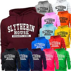 SLYTHERIN HOUSE HARRY POTTER SCHOOL HOODIE HOODY WOMENS BOY GIRL KIDS MENS GIFT in Clothes, Shoes & Accessories, Clothes, Shoes & Accessories | eBay