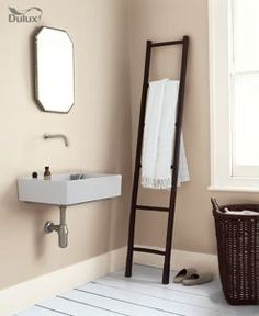Dulux Bathroom+ Soft Sheen Emulsion Paint Natural Calico 2.5L   Wickes.co.uk
