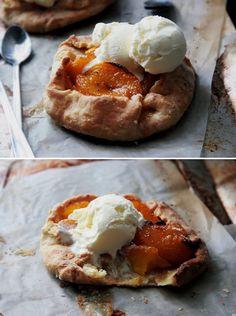 grilled peaches + ice cream