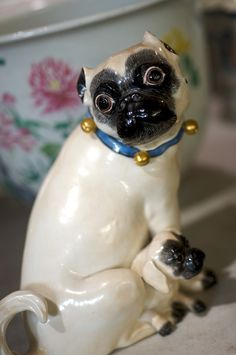 Meissen pugs, be still our hearts... Christie's Interiors (Photography by Carol Dronsfield)