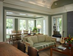 Airy Dining Roomlove The Walls Of Floorceiling Length Windows Enchanting Dining Room Addition Decorating Design