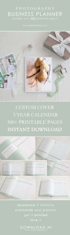 FINALLY - A perfect planner just for photographers! This has everything I could possibly want to keep my business organized! Over 300 printable pages - session checklist, calendar, wedding client checklist, finances, and so much more - It's on SALE for only $32! INSTANT DOWNLOAD