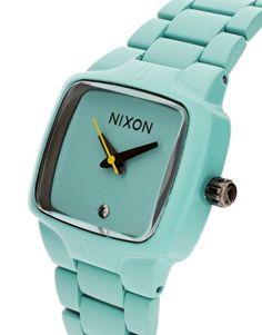 Love this Tiffany's blue Nixon watch.