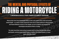Why Motorcycling May Be the Answer to Lowering Stress Levels Positive Mental Health, Human Behavior, Neuroscience, Stress Relief, A Team, Physics, Infographic, Freedom, Study