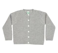 Cropped cardigan light grey