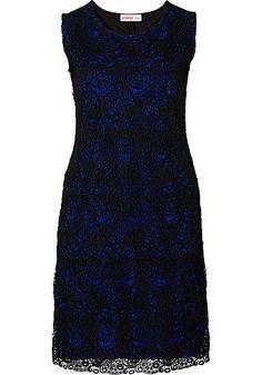 sheego Feminines Kleid – schwarz-royalblau