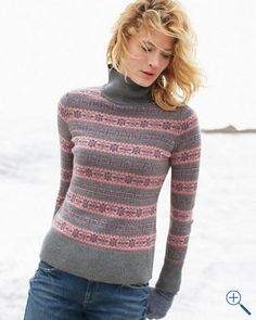 Alpine Fair Isle Turtleneck Sweater