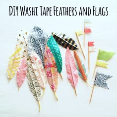 DIY Embellishments: Washi Tape Feathers and Flags by toribissell at @studio_calico
