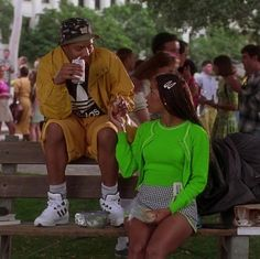 Every single outfit Dionne wore in 'Clueless' Dionne Clueless Outfits, Clueless Fashion, Fashion Outfits, Clueless Cher And Dionne, Clueless 1995, Stacey Dash Clueless, Colorful Fashion, Retro Fashion, Black 90s Fashion