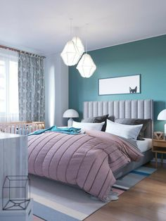 Appealing Small Master Bedroom Decor Ideas For Your Inspiration Small Apartment Decorating, Best Bedroom Colors, Bedroom Interior, Bedroom Design, Master Bedrooms Decor, Home Decor, Bedroom Color Schemes, Apartment Decor, Remodel Bedroom