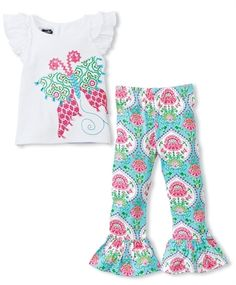 Mud Pie Butterfly Tunic & Legging Set