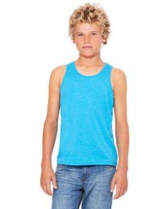 Bella + Canvas Youth Jersey Tank 3480Y NEON BLUE