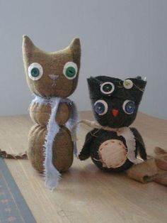DIY Toy : DIY Owl (or cat)