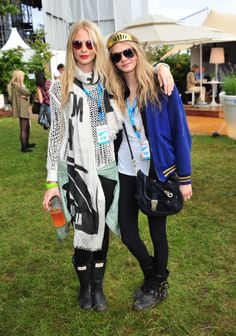 Poppy & Cara Delevingne