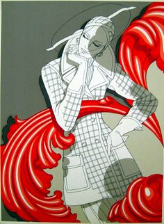 Antonio Lopez i love how it is mostly black and white with a big splash of red to make it interesting
