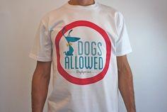 Camiseta chico DOGS ALLOWED - Dogtique - Tienda online de complementos para perros y dueños