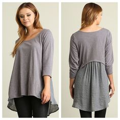 {Contrast Fabric Top $33.50}    Comment below with PayPal to purchase and ship or comment for 24 hour hold  #repurposeboutique#loverepurpose#hipandtrendy#shoprepurpose#boutiquelove#style#trendy#fall#umgee#top