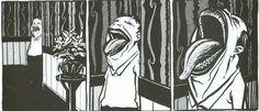 Art by Al Columbia, disturbing and brilliant creator of dark comics and stuff.