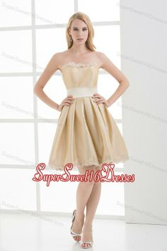 Buy a line strapless sleeveless embroidery champangedama dresses from dama dresses for quinceanera collection, strapless neckline short in champagne color,cheap knee length taffeta dress with lace up back and for sweet 16 quinceanera wedding party . Sweet Sixteen Dresses, Sweet 16 Dresses, Cheap Dresses, Prom Dresses, Formal Dresses, Quinceanera Dama Dresses, Champagne Quinceanera Dresses, Taffeta Dress, Lace Dress